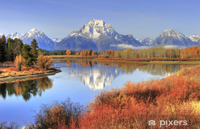 Fall Wallpaper With Owls Grand Teton Ranges Fall Colors Along Snake River Wyoming