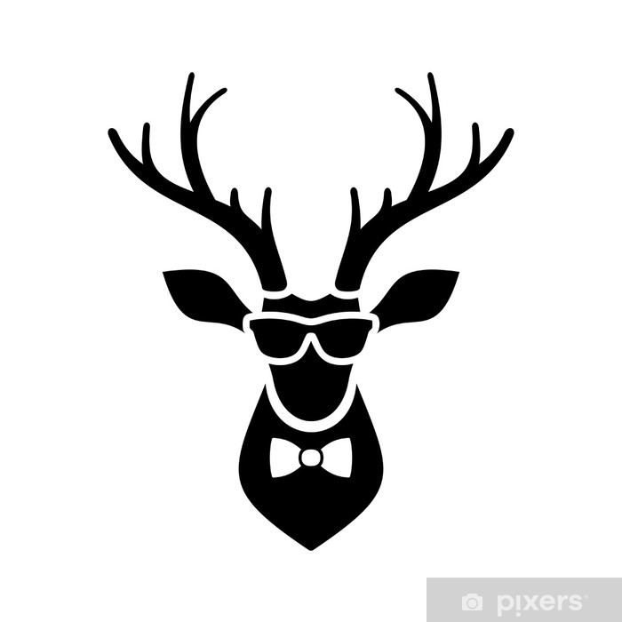 deer head icon with