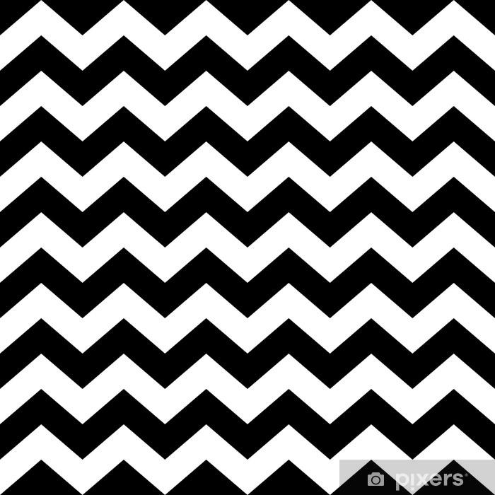 rideau occultant modele de zig zag sans couture en noir et blanc pixers nous vivons pour changer