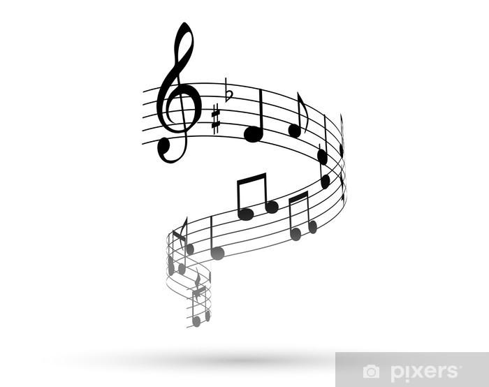 Carta da Parati Nota note musicali Pentagramma la