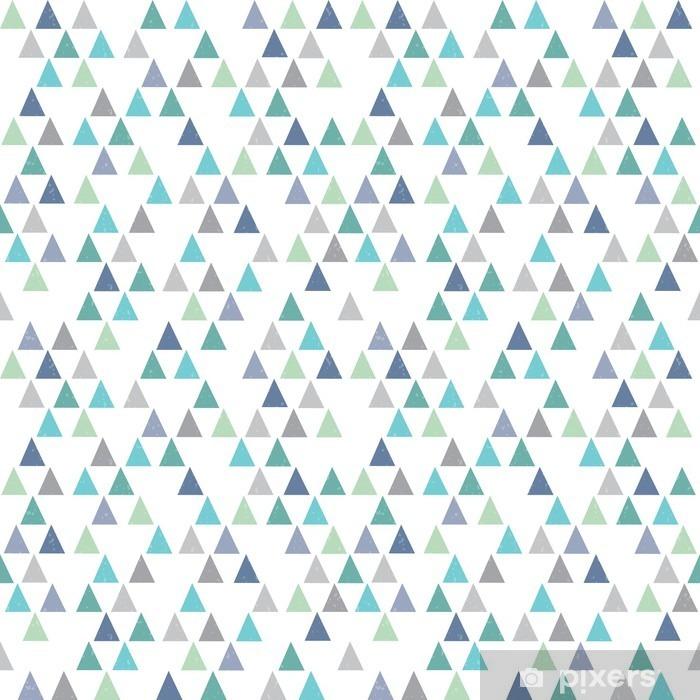 rideau occultant hippie sans soudure motif geometrique triangles bleu aqua pixers nous vivons pour changer