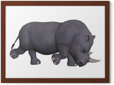 angry cartoon 3d rhino