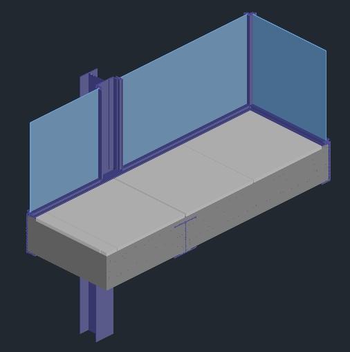 Planos de Casa farnsworth de mies van der rohe  detalle en DWG AUTOCAD Obras famosas
