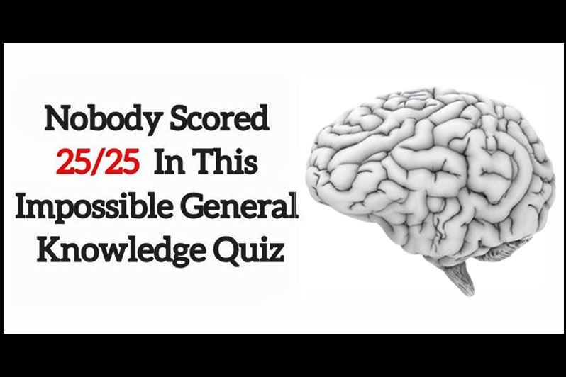 Nobody Scored 25/25 In This Impossible General Knowledge Quiz