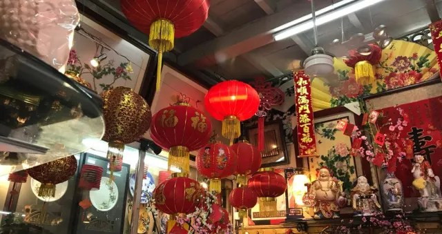 China Town in Mauritius sets up decorations for the Spring Festival