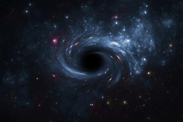 Se cree que todas las galaxias tienen un agujero negro en su núcleo. Estos agujeros son los conocidos como supermasivos.-