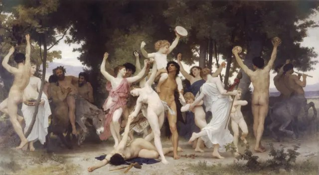 """La juventud de Baco"" (1884), de William-Adolphe_Bouguereau.-"