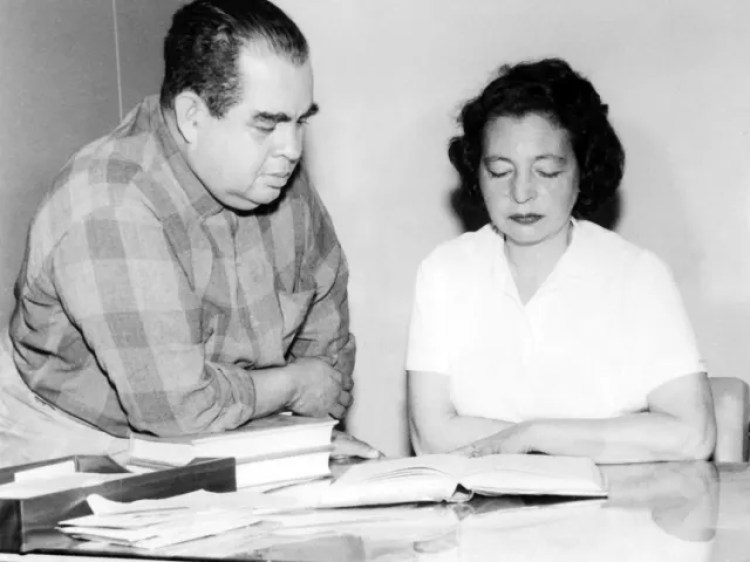 Com o segundo marido, Geraldo Ferraz