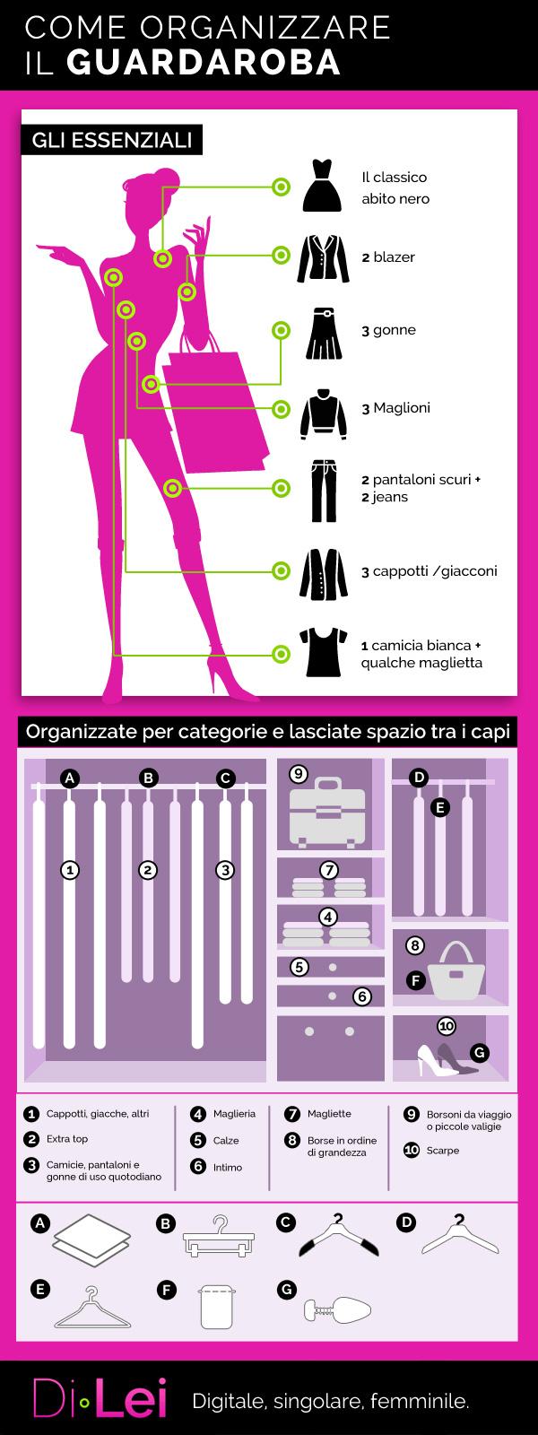 Come Ordinare Il Guardaroba.Come Organizzare Il Guardaroba L Infografica Dilei