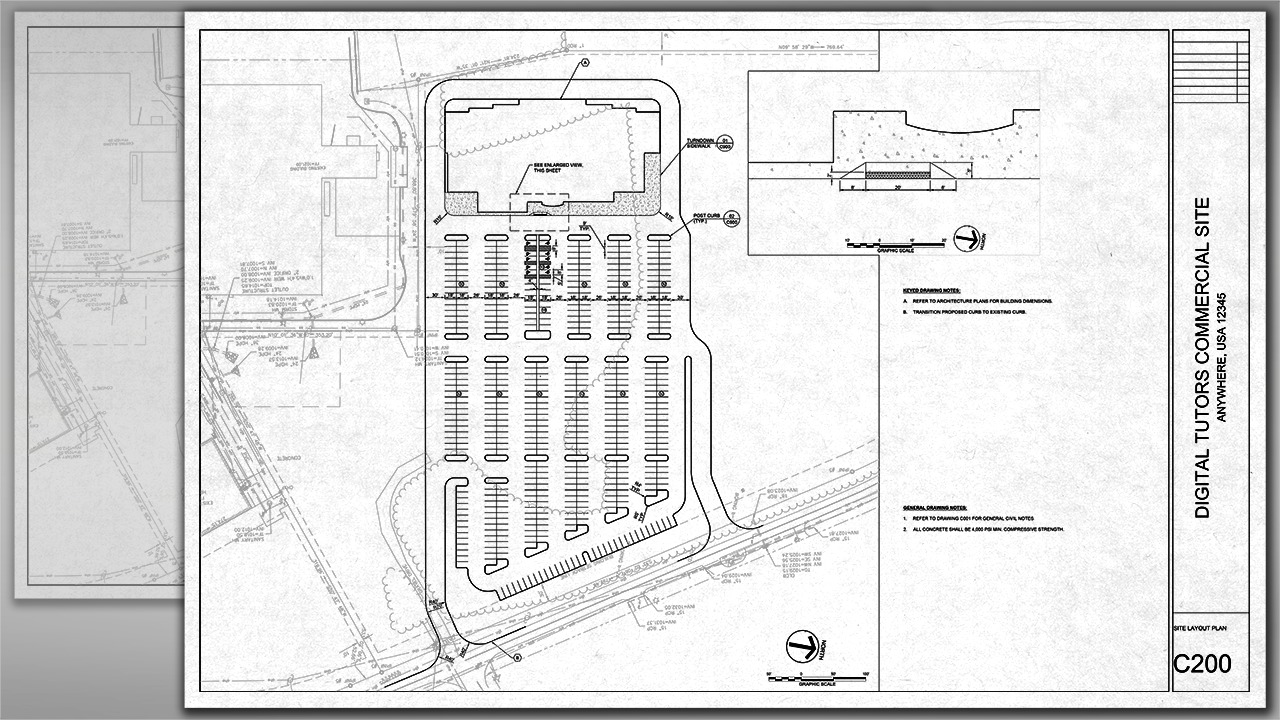 Professional Site Design and Plan Production in AutoCAD