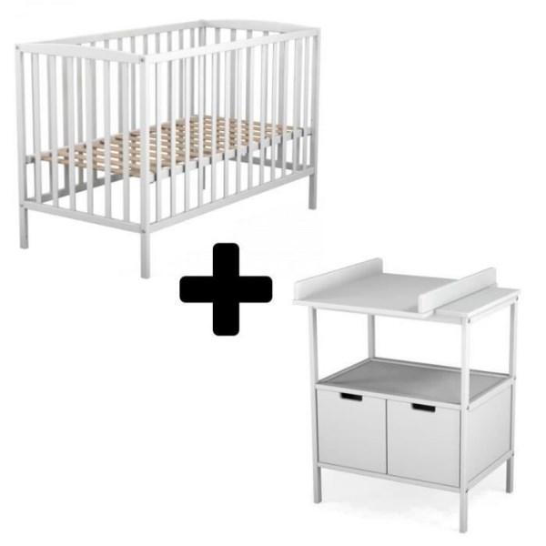 cdiscount lot lit bebe et table a