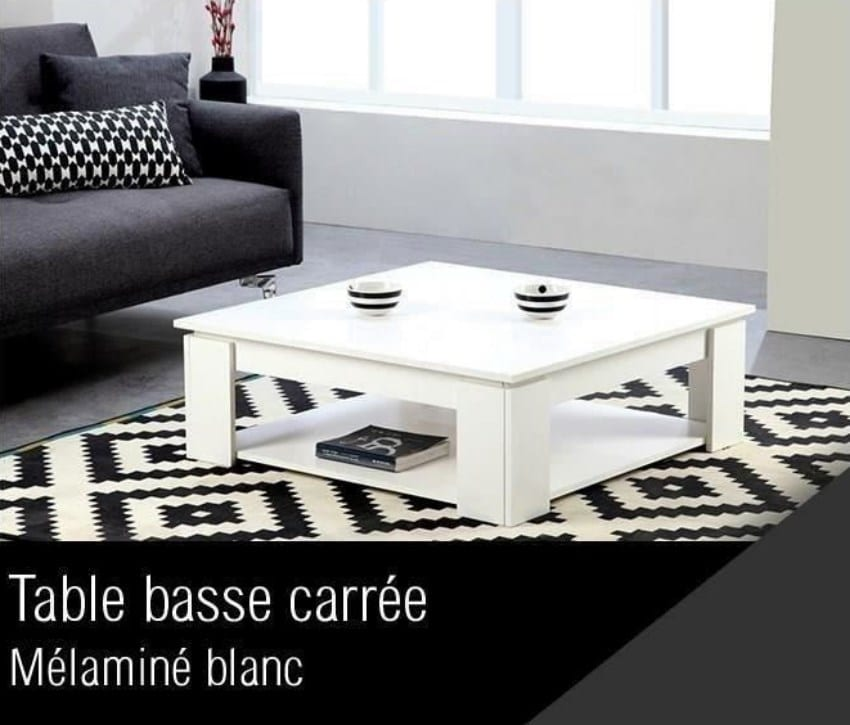 cdiscount table basse carree a 39 99