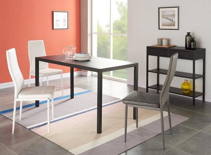 table a manger 6 personnes 140 x 70 cm
