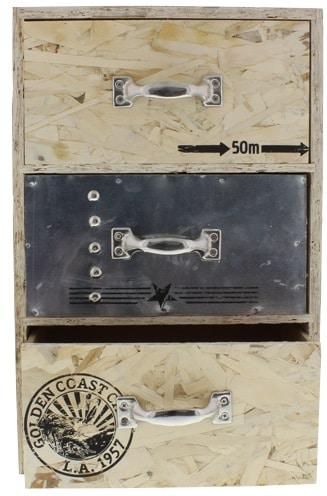 action petit meuble bois 3 tiroirs a