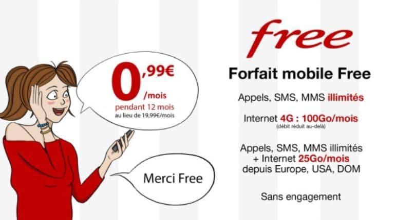 Vente privée Free Mobile à 0.99 €