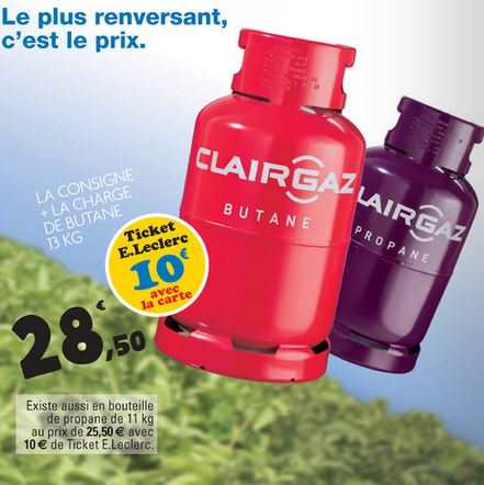 leclerc bouteille de gaz clairgaz