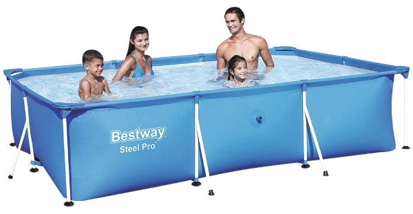 action piscine avec chassis bestway