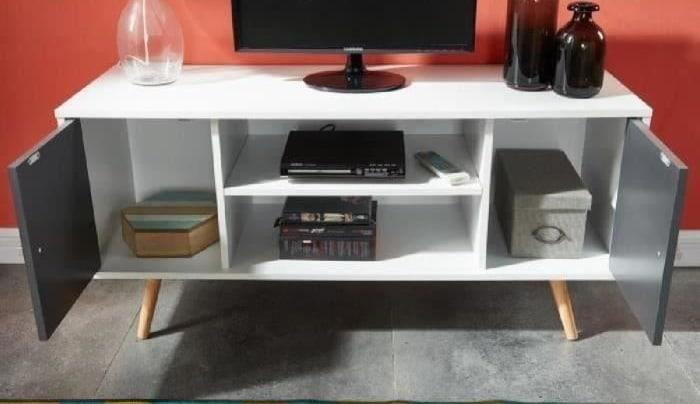 cdiscount meuble tv scandinave