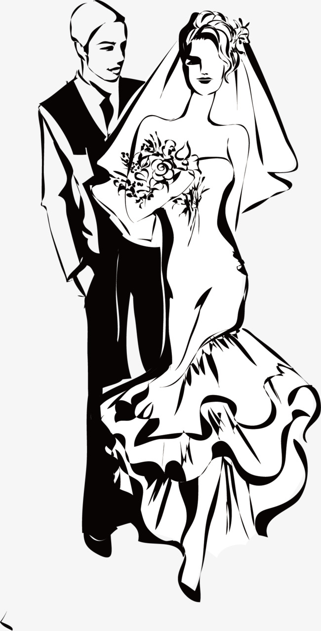 hight resolution of black and white wedding couple figures wedding clipart wedding