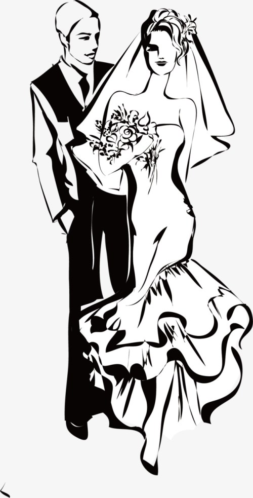 small resolution of black and white wedding couple figures wedding clipart wedding
