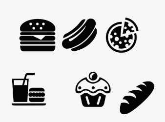 Black And White Western Fast Food Logo #82171 PNG Images PNGio