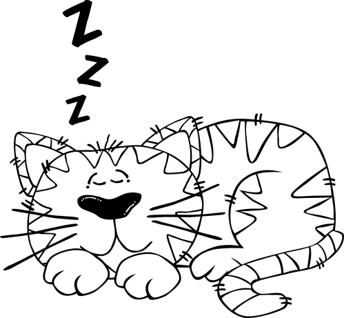small resolution of sleeping in bed png black and white clipart g cartoon cat sleeping 2 jpg library