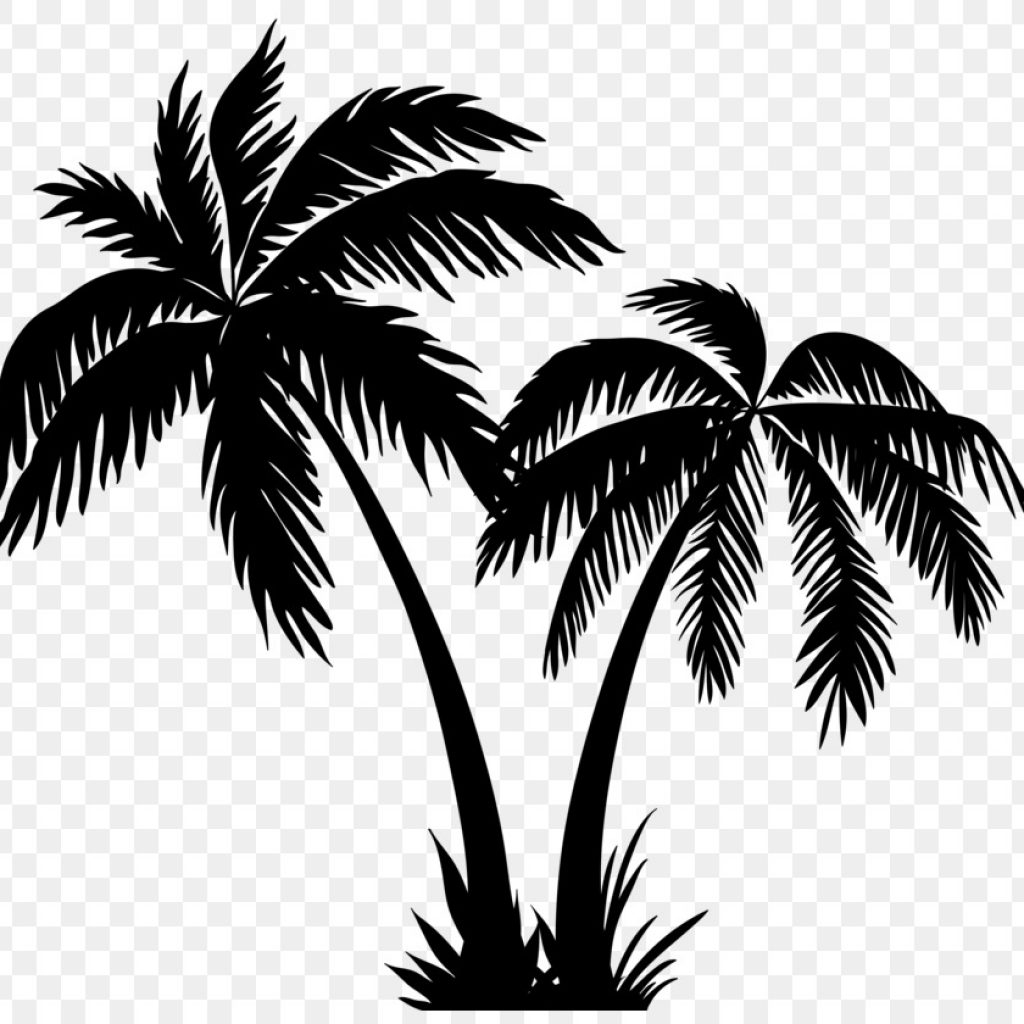 hight resolution of coconut tree silhouette free clipart download