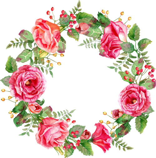 small resolution of free floral watercolor wreath with flowers png vector clipart