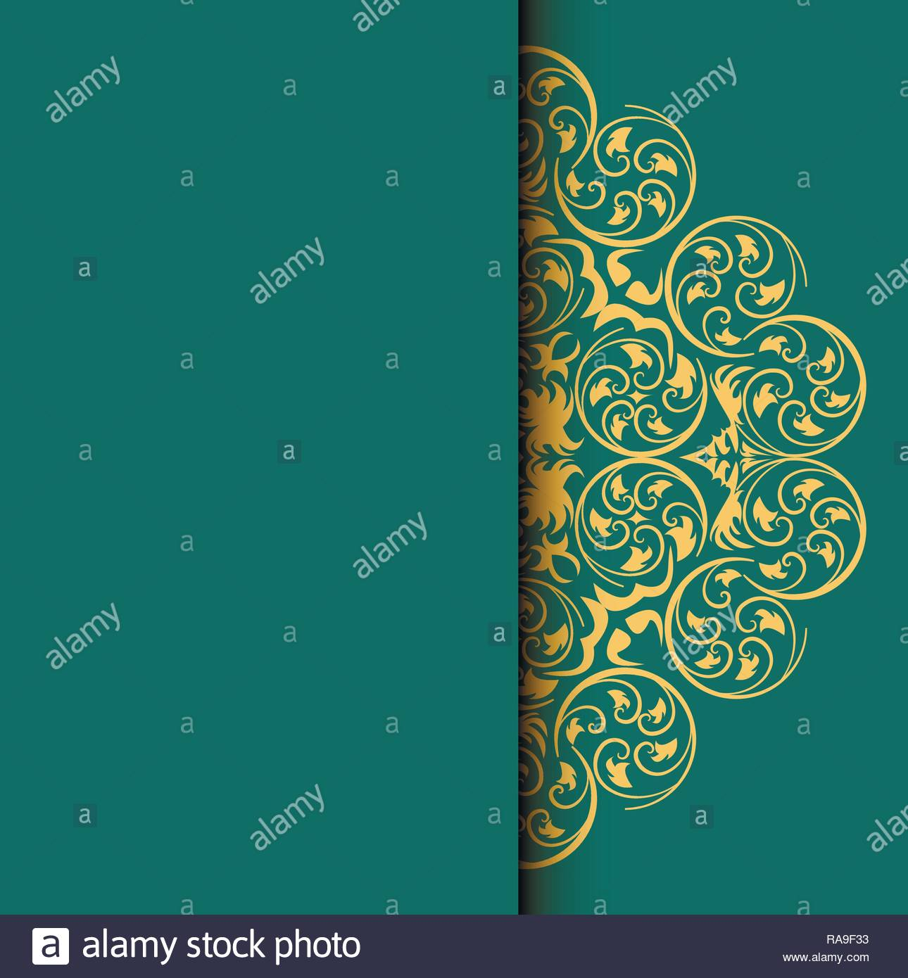 invitation card background with round