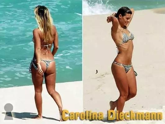Carolina Dieckmann de Biquini na Praia