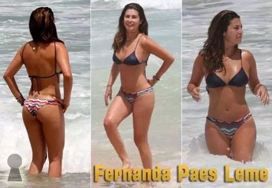 Fernanda Paes Leme de Biquini na Praia