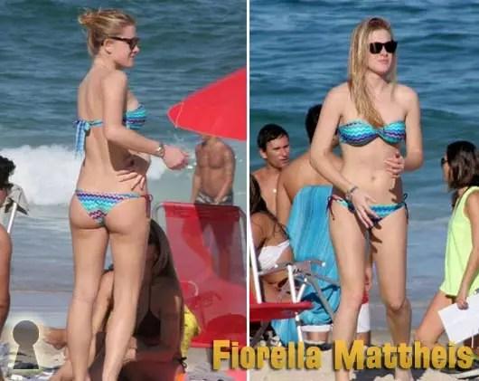 Fiorella Mattheis de Biquini na Praia