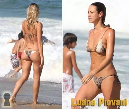 Luana Piovani de Biquini na Praia