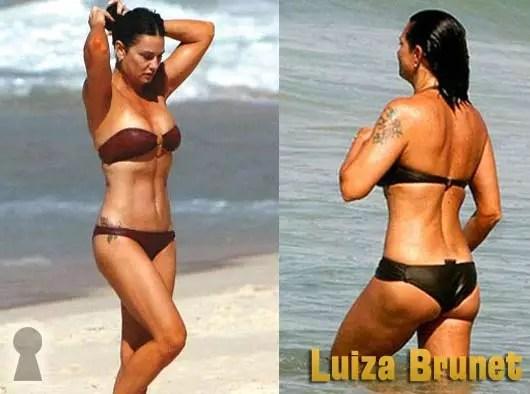 Luiza Brunet de Biquini na Praia