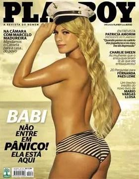 A Panicat Babi Rossi na Revista Playboy de Abril