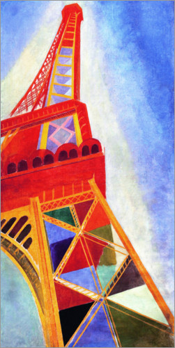 vintage posters for kitchen granite tops robert delaunay eiffel tower poster | posterlounge