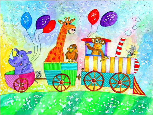 siegfried2838 Funny train animals for kids Poster