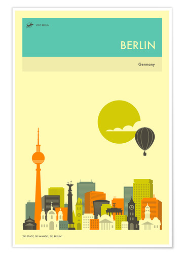 Berlin Travel Poster Posters And Prints Posterlounge Co Uk