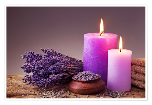 Wallpaper For Girls Room Uk Spa Still Life With Candles And Lavender Posters And
