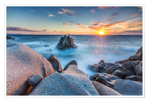 Turquoise Wallpaper For Girls Bedroom Sunset On Cliffs Of Capo Testa Sardinia Italy Posters