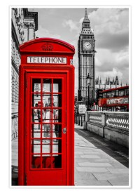 London telephone box and Big Ben Posters and Prints ...