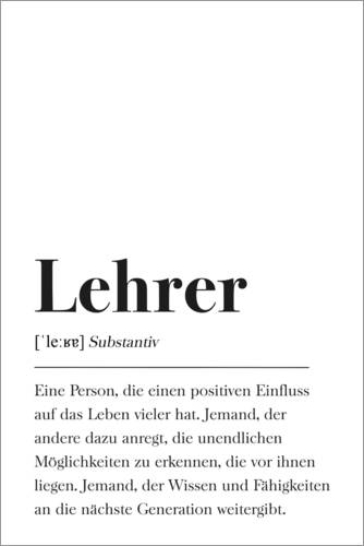 Johanna von Pulse of Art Lehrer Definition Poster online bestellen  Posterlounge