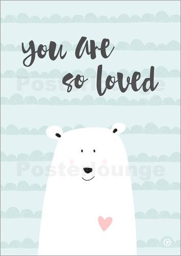 mbelle You are so loved  Mint Poster online bestellen  Posterlounge