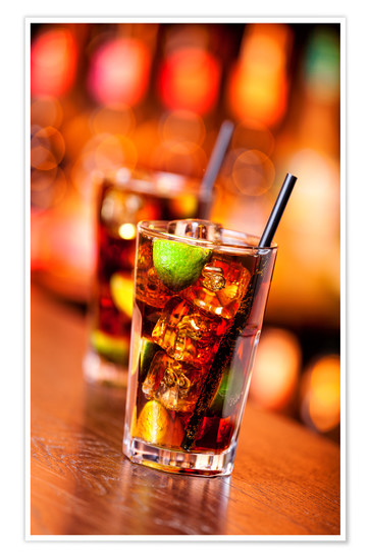 Cuba libre  kubanischer Cocktail Poster online bestellen  Posterloungede