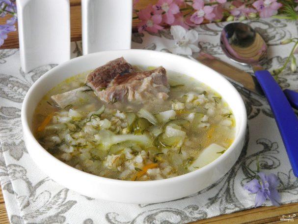 rassolnik s perlovkoi i solenimi ogurcami 286292 - Pickle with barley and pickles