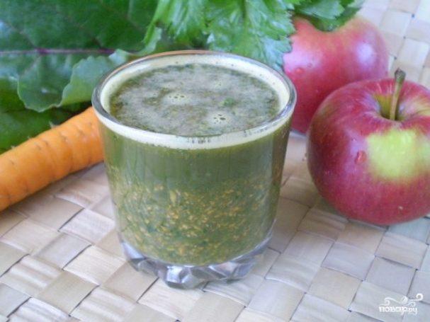 zelenii kokteil s morkoviu 216148 - Green smoothie with carrots