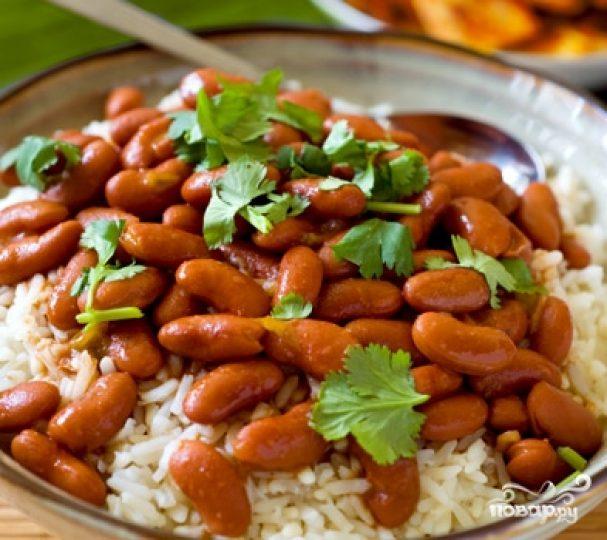 Рис с бобами