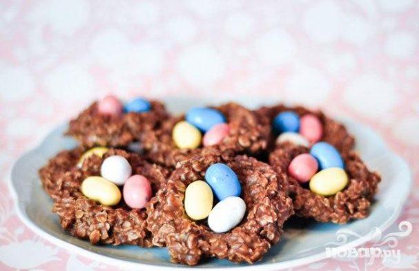 "shokoladnoe pechene quotgnezdaquot 23835 - Шоколадное печенье ""Гнезда"""