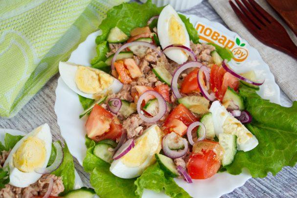 ПП салат с тунцом