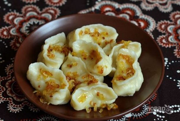 Украинские вареники с картошкой